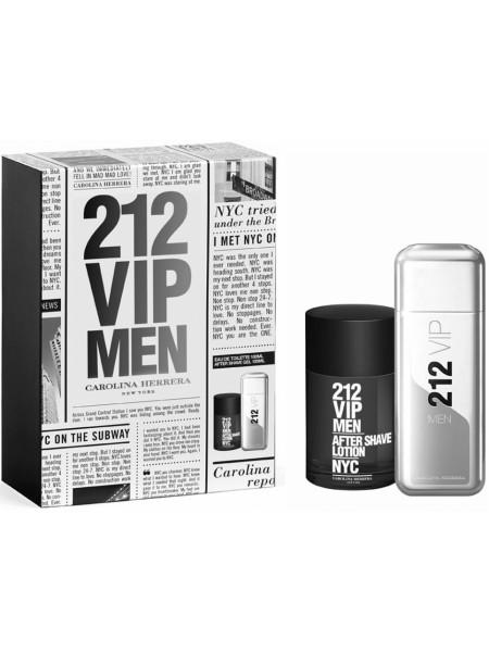 Carolina Herrera 212 VIP Men Подарочный набор (туалетная вода 100 мл + лосьон после бритья 100 мл)