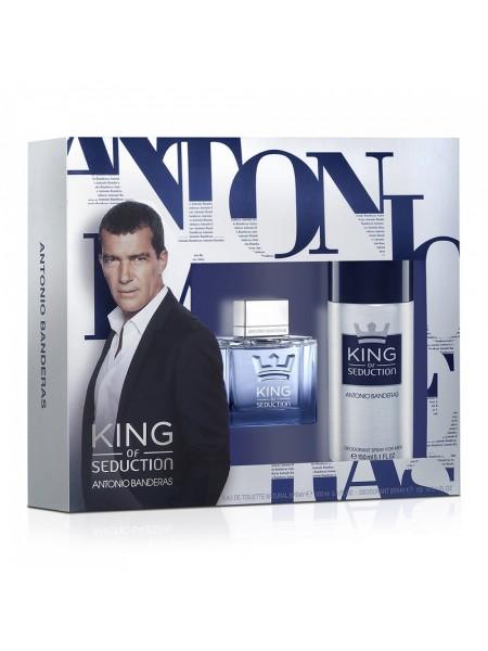 Antonio Banderas King of Seduction Подарочный набор (туалетная вода 100 мл + дезодорант 150 мл)