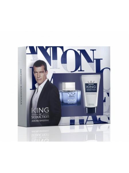 Antonio Banderas King of Seduction Подарочный набор (туалетная вода 50 мл + бальзам после бритья 50 мл)