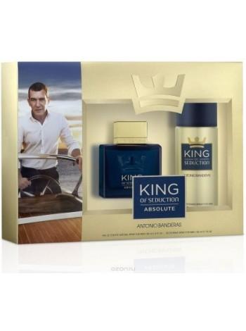 Antonio Banderas King of Seduction Absolute Подарочный набор (туалетная вода 100 мл + дезодорант спрей 150 мл)