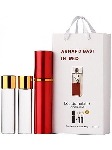 Armand Basi In Red Подарочный набор (туалетная вода 3*15 мл + футляр)