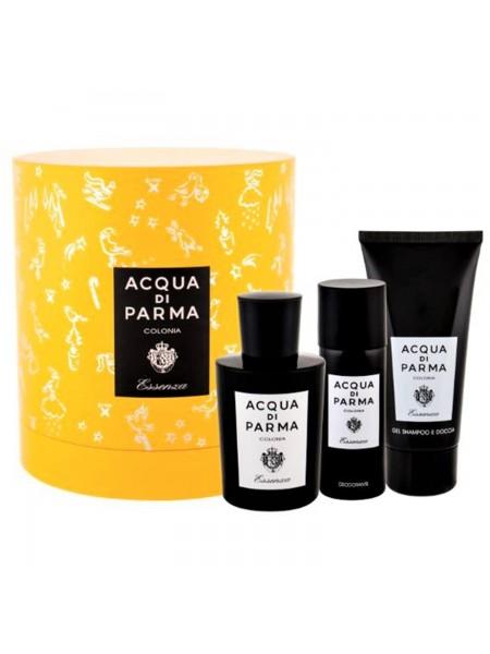 Acqua di Parma Essenza di Colonia Подарочный набор (одеколон 100 мл + гель для душа 75 мл + стиковый дезодорант 50 мл)