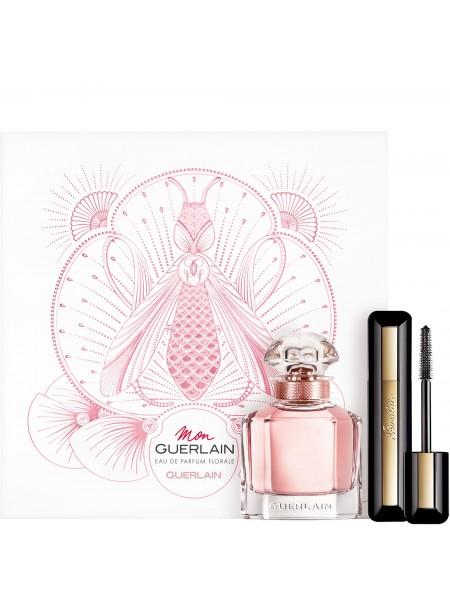 Guerlain Mon Guerlain Florale Подарочный набор (парфюмированная вода 50 мл + тушь Maxi Lash So Volume 8.5 мл)