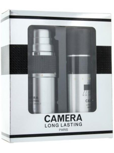 Max Deville Camera Long Lasting Подарочный набор (туалетная вода 100 мл + дезодорант-спрей 150 мл)