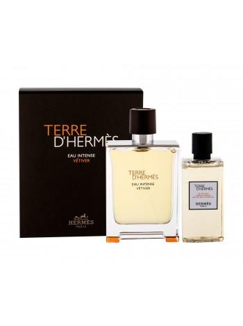 Hermes Terre d'Hermes Eau Intense Vetiver Подарочный набор (парфюмированная вода 100 мл + гель для душа 80 мл)