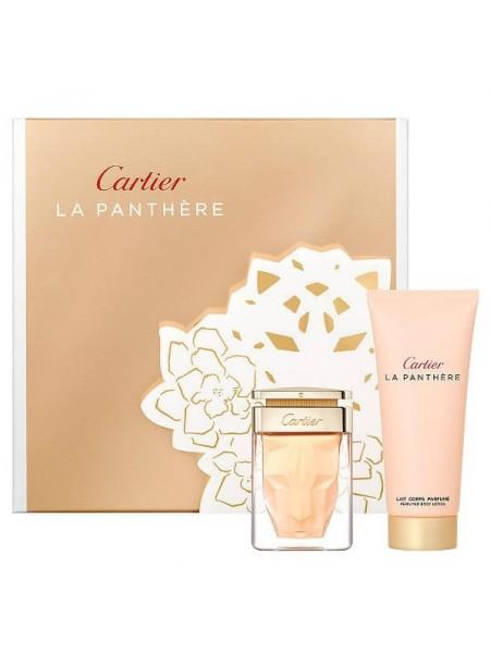 Cartier La Panthere Подарочный набор (миниатюра 9 мл + лосьон для тела 30 мл)