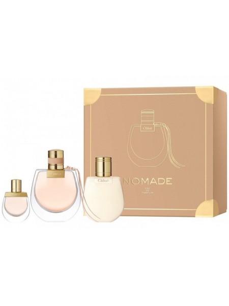 Chloe Nomade Подарочный набор (парфюмированная вода 75 мл + миниатюра 5 мл + лосьон для тела 100 мл)