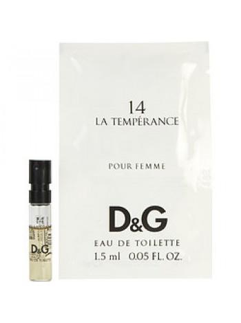 D&G Anthology La Temperance 14 пробник 1.5 мл