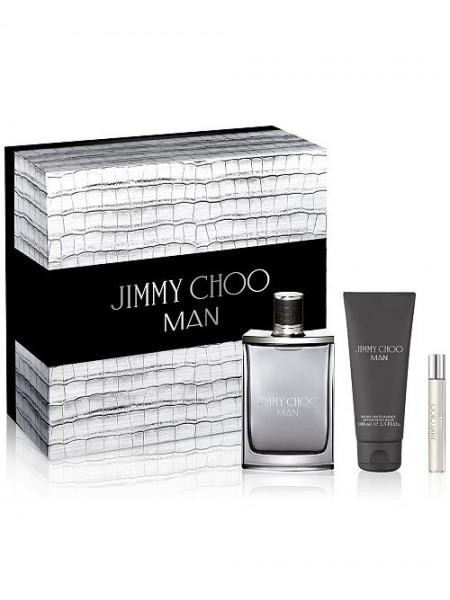 Jimmy Choo Man Подарочный набор (туалетная вода 100 мл + миниатюра 7.5 мл + бальзам после бритья 100 мл)