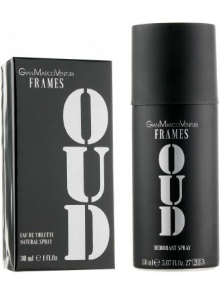 Gian Marco Venturi Frames Oud Подарочный набор (туалетная вода 30 мл + дезодорант спрей 150 мл)