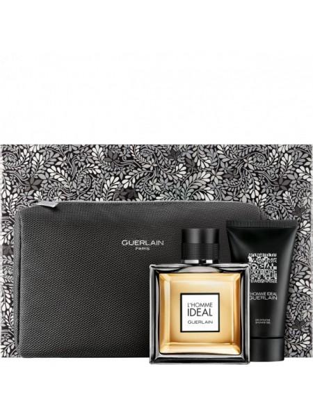 Guerlain L'Homme Ideal Подарочный набор (туалетная вода 100 мл + гель для душа 75 мл + косметичка)