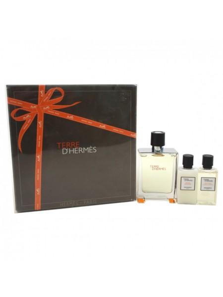 Terre d'Hermes Eau De Toilette Подарочный набор (туалетная вода 50 мл + гель для душа 40 мл + лосьон для тела 40 мл)