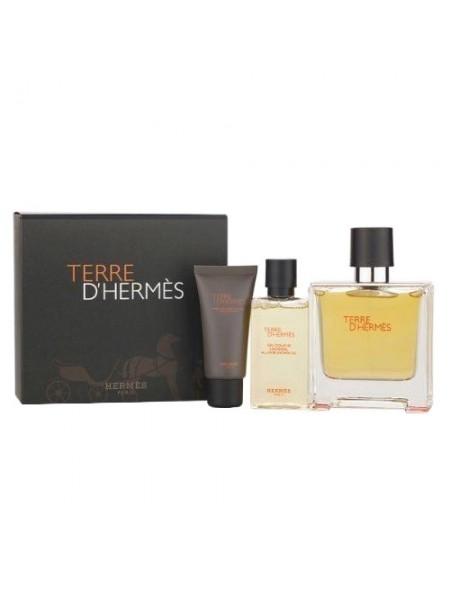 Terre d'Hermes Eau De Toilette Подарочный набор (туалетная вода 100 мл + гель для душа 80 мл + бальзам после бритья 40 мл)