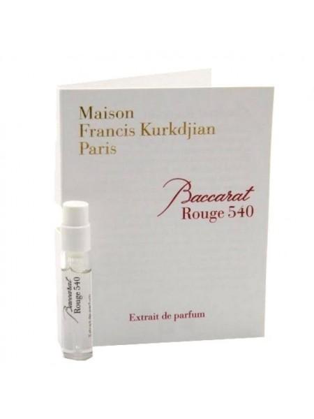 Maison Francis Kurkdjian Baccarat Rouge 540 Extrait de Parfum пробник 2 мл