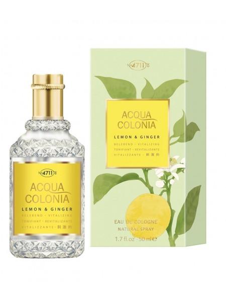 Maurer & Wirtz 4711 Acqua Colonia Lemon & Ginger одеколон 50 мл