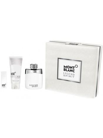 Montblanc Legend Spirit Подарочный набор (туалетная вода 100 мл + миниатюра 15 мл + лосьон после бритья 100 мл)