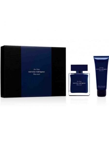 Narciso Rodriguez For Him Bleu Noir Подарочный набор (туалетная вода 100 мл + лосьон после бритья 75 мл)