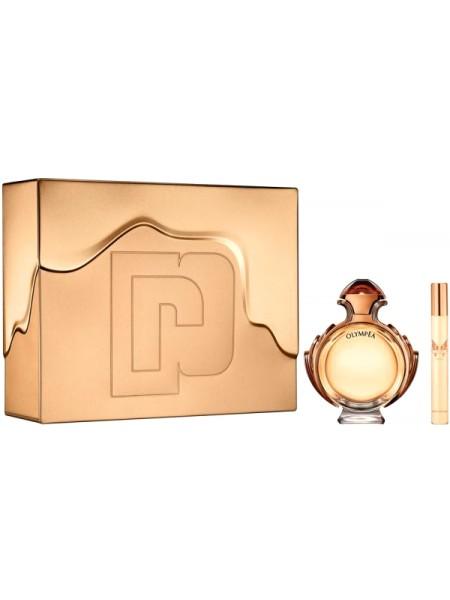 Paco Rabanne Olympea Intense Подарочный набор (миниатюра 10мл + парфюмированная вода 80 мл)