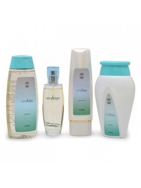 Ajmal Raindrops For Her Набор (парфюмированная вода 75 мл + масло для тела 200 мл + гель для душа 200 мл + пудра 100 г)