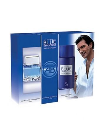 Antonio Banderas Blue Seduction for Men Подарочный набор (туалетная вода 100 мл + дезодорант спрей 150 мл)