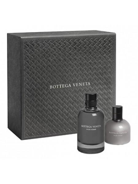 Bottega Veneta Pour Homme Подарочный набор (туалетная вода 90 мл + бальзам после бритья 100 мл)