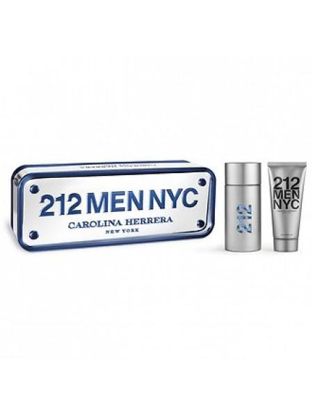 Carolina Herrera 212 Men Подарочный набор (туалетная вода 100 мл + лосьон после бритья 100 мл)
