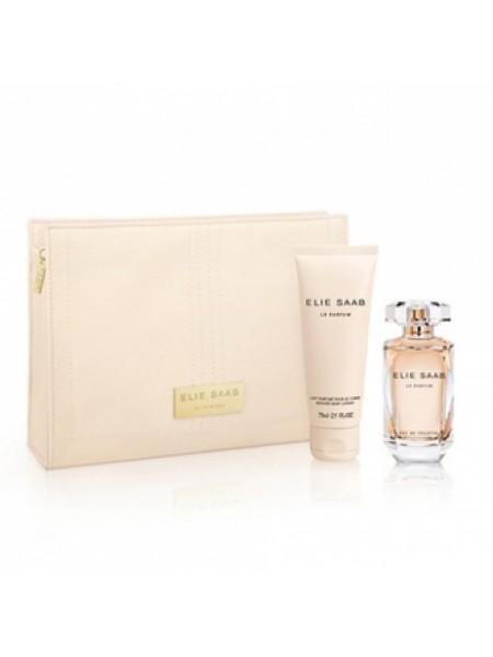 Elie Saab Le Parfum Подарочный набор (парфюмированная вода 50 мл + лосьон для тела 75 мл + сумочка)
