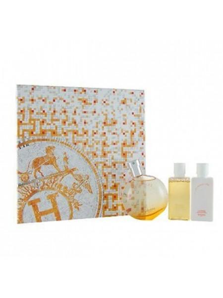 Hermes Eau des Merveilles Подарочный набор (туалетная вода 50 мл + гель для душа 40 мл + лосьон для тела 40 мл)