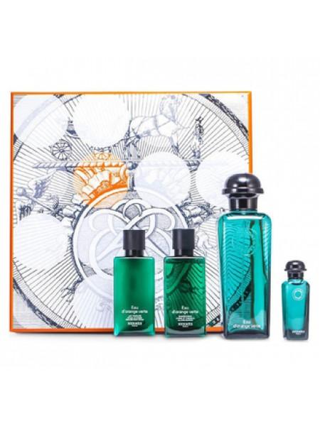 Hermes Eau D'orange Verte Les Colognes Подарочный набор (одеколон 100 мл + лосьон для тела 40 мл + шампунь 40 мл + миниатюра 7.5 мл)