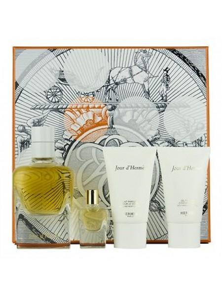 Hermes Jour d'Hermes Набор (парфюмированная вода 85 мл + лосьон для тела 30 мл + гель для душа 30 мл + миниатюра 7.5 мл)