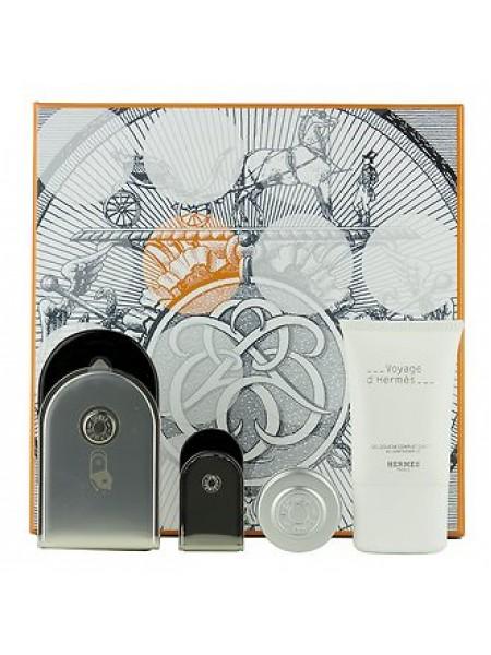 Hermes Voyage d'Hermes Набор (парфюмированная вода 100 мл + миниатюра 5 мл + бальзам 10 мл + гель для душа 30 мл)