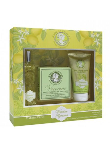 Jeanne en Provence Verveine  Подарочный набор (парфюмированная вода 60 мл+мыло 100 г+крем для рук 75 мл)