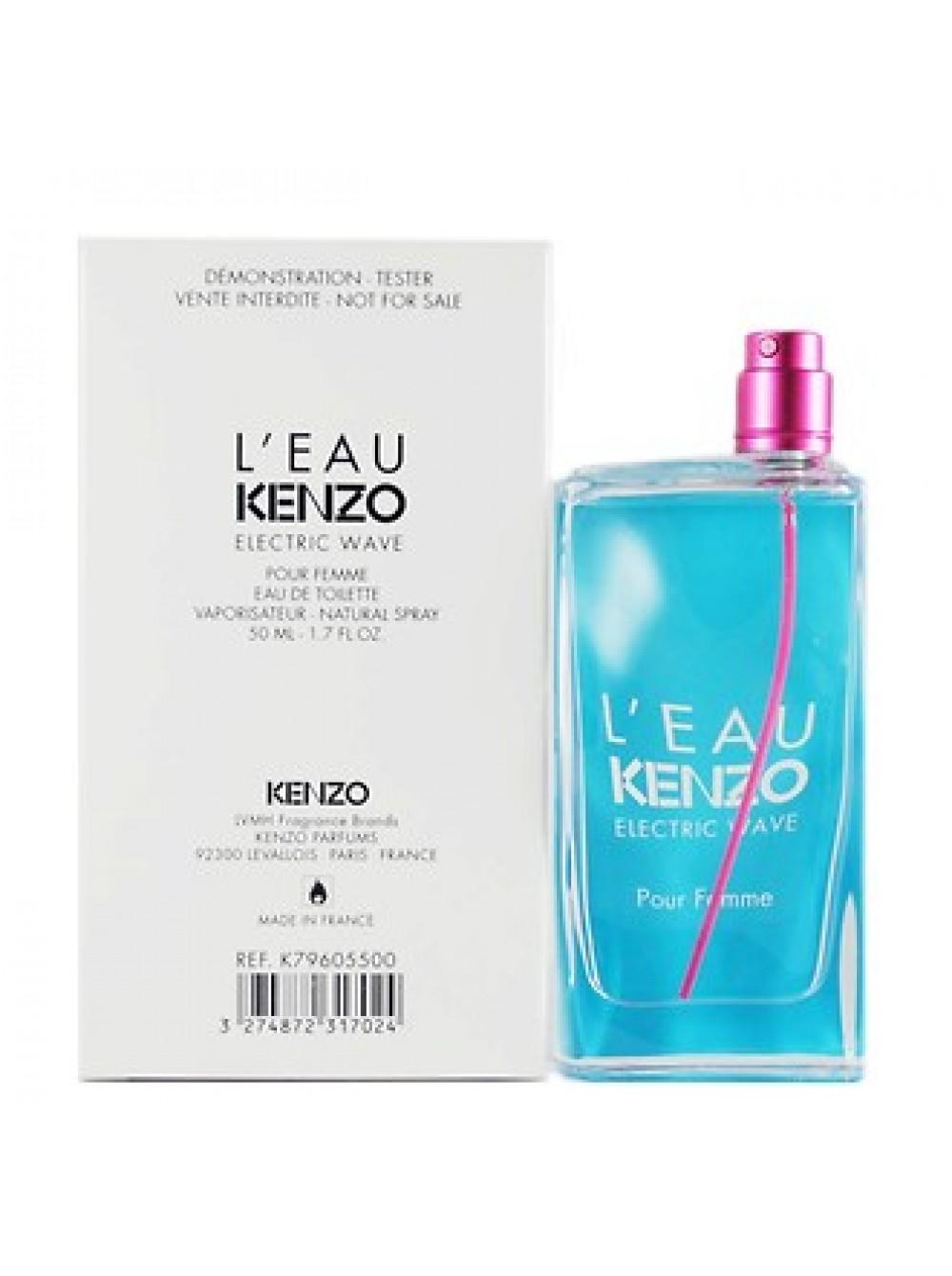 Femme L'eau Тестертуалетная Par Вода50 Pour Kenzo Electric Wave Мл SUqMjLVpGz