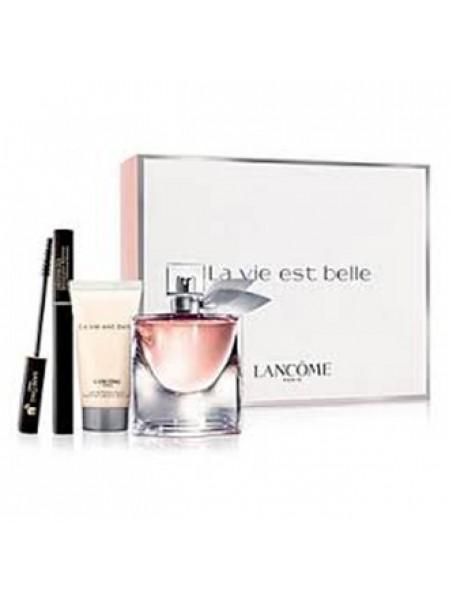Lancome La Vie Est Belle Подарочный набор (парфюмированная вода 30 мл + лосьон для тела 50 мл + тушь для ресниц Hypnose 2 мл)