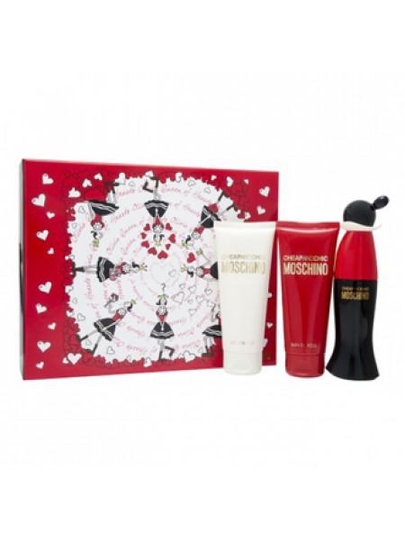 Moschino Cheap and Chic Подарочный набор (туалетная вода 50 мл + лосьон для тела 100 мл + гель для душа 100 мл)