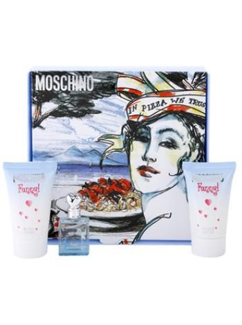 Moschino Funny Подарочный набор (миниатюра 4 мл + гель для тела 25 мл + гель для душа 25 мл)