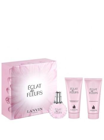 Lanvin Eclat de Fleurs подарочный набор (парфюмированная вода 100 мл + лосьон для тела 100 мл + гель для душа 100 мл)