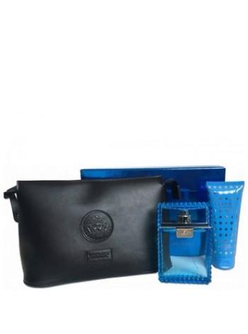 Versace Man Eau Fraiche подарочный набор (туалетная вода 100 мл + гель для душа 100 мл + клатч)