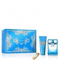 Versace Man Eau Fraiche подарочный набор (туалетная вода 100 мл + гель для душа 100 мл + зажим для денег)