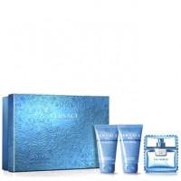 Versace Man Eau Fraiche подарочный набор (туалетная вода 50 мл + гель для душа 50 мл + шампунь 50 мл)
