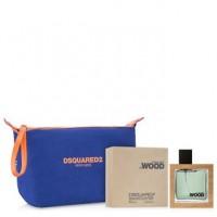 Dsquared2 He Wood Подарочный набор (туалетная вода 50 мл + косметичка)
