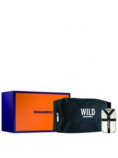 Dsquared2 Wild Подарочный набор (туалетная вода 50 мл + косметичка)