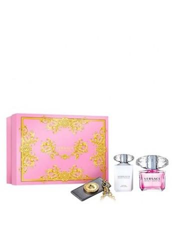 Versace Bright Crystal подарочный набор (туалетная вода 90 мл + лосьон для тела 100 мл + брелок)