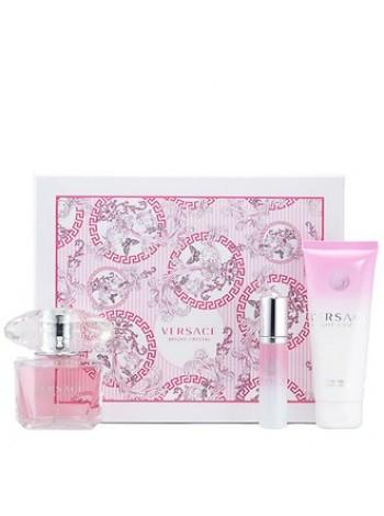 Versace Bright Crystal Подарочный набор (туалетная вода 90 мл + лосьон для тела 100 мл + миниатюра 10 мл)