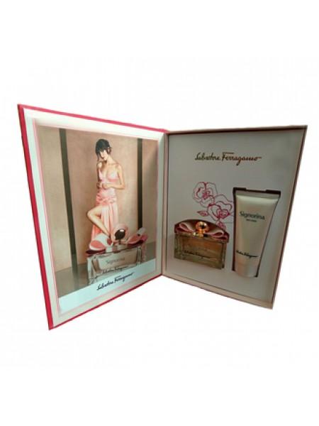 Salvatore Ferragamo Signorina Подарочный набор (парфюмированная вода 100 мл + лосьон для тела 100 мл)