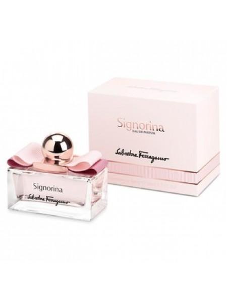 Salvatore Ferragamo Signorina Подарочный набор (парфюмированная вода 100 мл + лосьон для тела 50 мл + сумка)