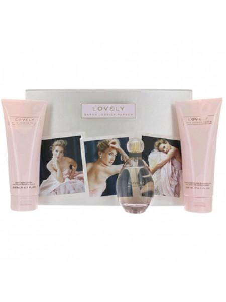 Sarah Jessica Parker Lovely Подарочный набор (парфюмированная вода 100 мл + гель для душа 200 мл + лосьон для тела 200 мл)