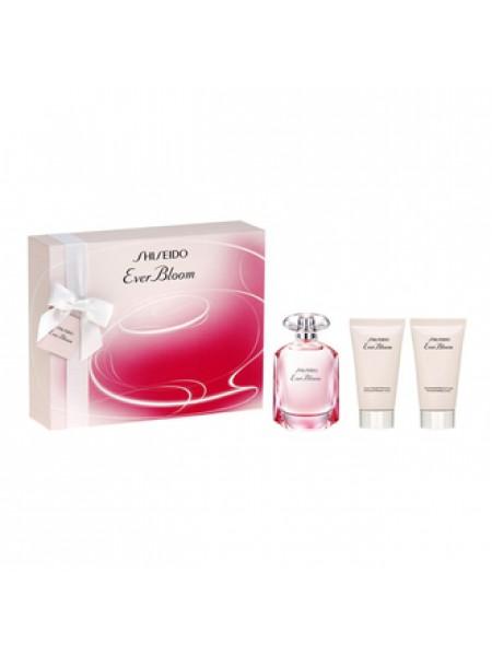 Shiseido Ever Bloom Подарочный набор (парфюмированная вода 50 мл + лосьон для тела 50 мл + гель для душа 50 мл)