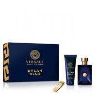 Versace Pour Homme Dylan Blue Подарочный набор (туалетная вода 100 мл + гель для душа 100 мл + зажим для денег)