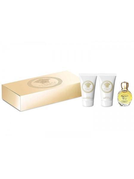 Versace Eros Pour Femme Подарочный набор (миниатюра 5 мл + гель для душа 25 мл + лосьон для тела 25 мл)